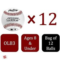 Lot Of Baseballs Rawlings Official League Dozen - Bag Of 12 For Practice