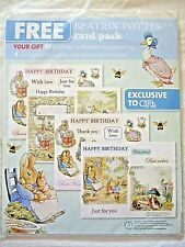 New Beatrix Potter Themed Push Outs Backing Papers Card & envelope
