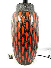 Stunning 70´s design Scheurich Fat Lava Keramik pottery Lampe / lamp  base 50 cm