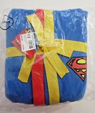 SUPERMAN JUNIOR KIDS CHILD ROBE FLEECE SIZE 7-8 OFFICIAL DCCOMICS RRP $45 BNWT