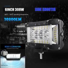 "1x 6"" INCH Side Shooter LED Work Light Bar 308W QUAD ROW Cube Spot Flood ATV SUV"