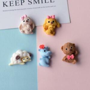 20pc Mixed Resin Cartoon Rabbit Dog Bear Sheep Flatback Buttons Embellishments