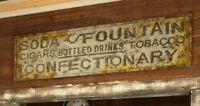 "General Store Advertising Sign Vintage Style Large Metal 72"""