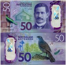 NEW ZEALAND 50 DOLLARS 2015 / 2016 POLYMER KOKAKO BIRD P 194 UNC