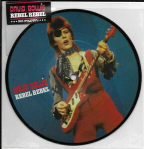 """David Bowie Rebel Rebel. 40th anniversary 7"""" Picture Disc New"""