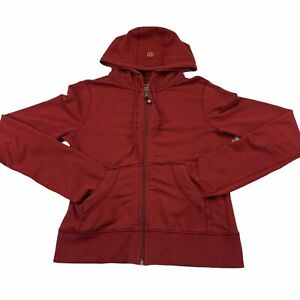 Lululemon Cropped Lightweight Jacket Sz 6 S Ruched Bunched Sleeves Darted Red