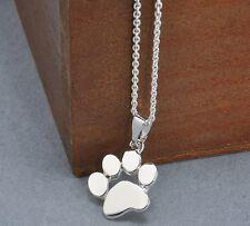 Halskette Pfotenabdruck Niedlichen Tier Hund katze Welpen Charme mädchen Herz 08