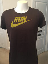 WOMENS XXL SLIM FIT XXL NWT NIKE RUN BROWN T-SHIRT