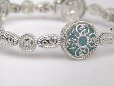 DeLatori Sterling 19.30 cttw Gemstone Line Bracelet