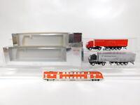 CG555-0, 5 #2x Herpa H0 / 1:87 Lorry MB: Düsseldorf + Frankfurt, Very Good +Box