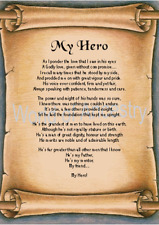 My Hero - Dad - Grandfather - Personalised Verse  Scroll Father's Day Birthday