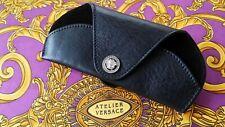 Authentic Rare GIANNI VERSACE Leather Medusa Eye Glasses Belt Holder Vintage New
