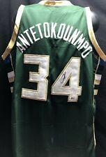 Giannis Antetokounmpo Signed Greek Freak Jersey Beckett COA Auto Milwaukee Bucks
