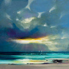 Scott Naismith - West Coast Blues II - Ready Framed Canvas 40x40cm