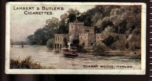 Tobacco Card,Lambert Butler,THAMES LECHLADE LONDON,1907,Quarry Woods Marlow,#35