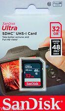 Sandisk Ultra 32GB SD SDHC UHS-1 class10 48MB/S 16GB SD Speicherkarte NEU&OVP