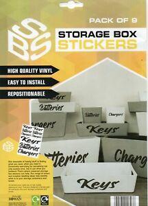 STORAGE BOX STICKERS - KEYS/BATTERIES/CHARGERS - FREE UK POSTAGE