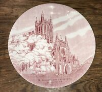 THE WASHINGTON CATHEDRAL OLD ENGLISH STAFFORDSHIRE WARE ENGLAND COLLECT PLATE