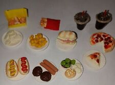 Dollhouse Miniature Snack Food Pizza Hot Dogs Chicken Nuggets