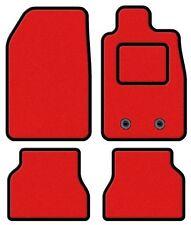 TOYOTA YARIS 2011 ONWARDS TAILORED RED CAR MATS WITH BLACK TRIM