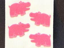 1 VINTAGE  SANDYLION FUZZY PINK HIPPO STICKER MOD 99 CENTS SHIPS ALL (RARE)