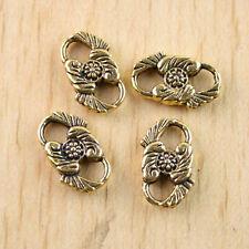 20pcs dark gold-tone flower charm findings h1280