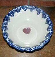 """9"""" Heart Serving Bowl Red White Blue"""