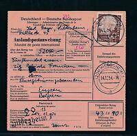 89880) Auslands - Postanweisung Heuss, EF 60PF Hildesheim - Eupen Belgien