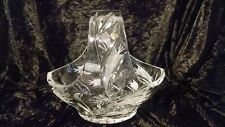 Vintage Crystal Bowl with Handle Jihlava