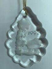 Precious Moments Christmas Ornament Glass Engraved 1992 Drummer Boy Jesus