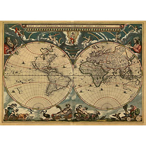 1000 Piece Puzzles for Adults Jigsaw Puzzles 1000 Pieces Ancient World Map Games