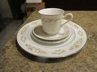 Vintage 326 Springtime International Silver Co. plate cup saucer bread - HYMLOT