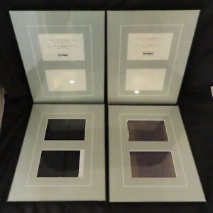 Pier One Imports Photo Frames Set of 4 Matted Black Glass Collage 11x14 4x6 inch
