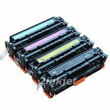 4 Pk CC530A CC531A CC532A CC533A Color Toner for HP 304A LaserJet CM2320 CP2025