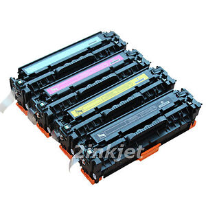 4 Pk CC530A CC531A CC532A CC533A Color Toner for HP 304A LaserJet CM2320 CP2025