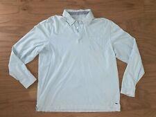 Vineyard Vines Long Sleeve Pullover Polo Shirt Blue L Pima Cotton Whale Logo