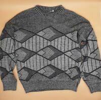 Leacril Herren Pullover Gr. M ☆DDR Vintage Grau