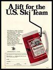 1970 U. S, Ski Team Budweiser Beer Thermo Stein St. Louis MO Vintage Print Ad
