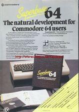 "Superbase 64 Commodore 64 ""Vintage Hardware"" 1984 Magazine Advert #5220"