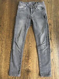 Girls AG Skinny Jeans The Twiggy Dark Gray Faded Black Sz 8 - EUC