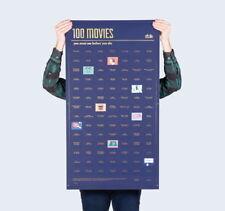 Poster 100 Movies you must see DOIY Kino Filme TV Klassiker 98x55 cm interaktiv