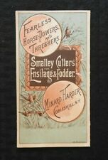 """1885 """"Smalley Cutters Fearless Horse-Power Thresher"""" Minard Harder Cobleskill NY"""