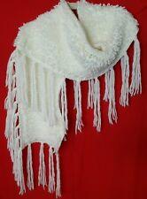 "Bethany Mota scarf Ivory color 64"" Long x9""wide 100% Acrilic NWOT"