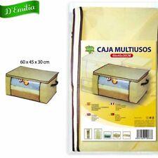 CONTENITORE MULTIUSO PER CAMBIO BIANCHERIA 60X48X30 SCATOLA BOX MANIGLIE E ZIP