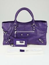 Balenciaga Crocus Purple Lambskin Leather Giant 12 Silver Part Time Bag