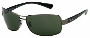 Ray-Ban Sunglasses RB 3379 004/58 64 Gunmetal |Green Classic G-15 Polarized Lens