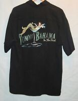 Tommy Bahama Martini Glass 100% Silk Embroidered Camp Shirt Mens In The Drink M