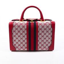 Gucci Red GG Monogram Sylvie Web Train Case