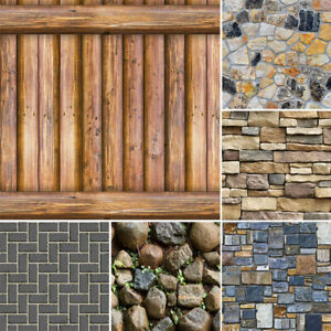 10m 3D Brick Stone Wallpaper Self Adhesive Wall Stickers Bedroom Peel and Stick