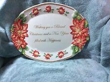Fitz & Floyd 1st Ladies Collect Kennedy White House Poinsettia Platter